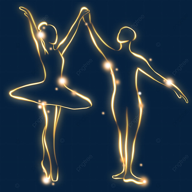 light effect couple ballet