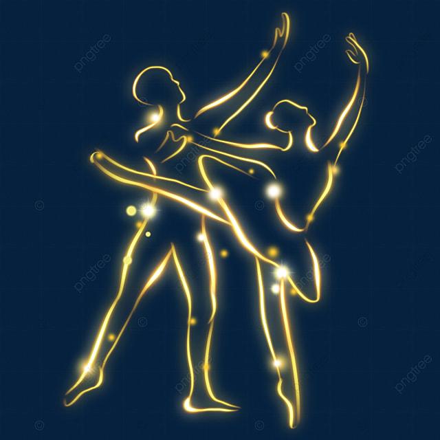 light effect line ballet figure