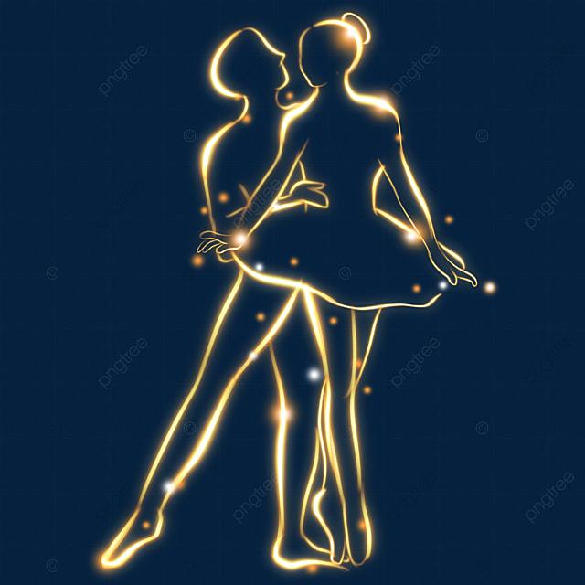 light effect romantic ballet figure