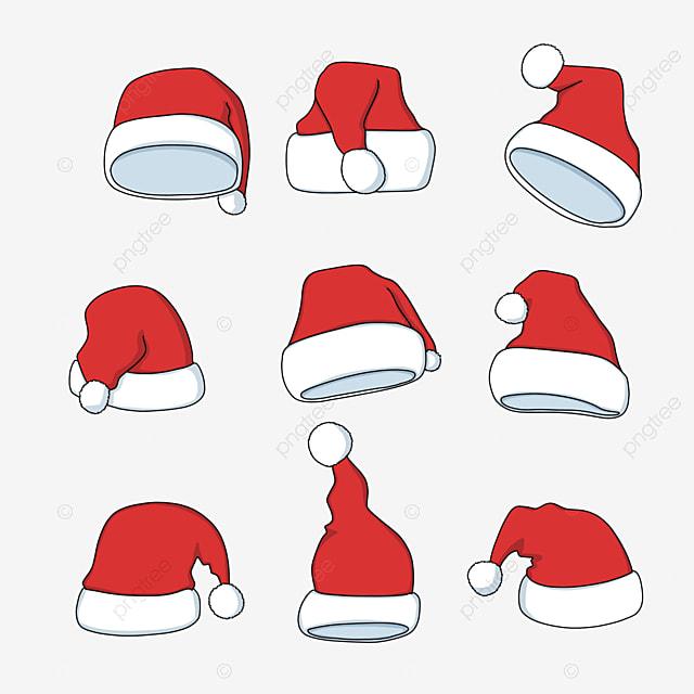 cartoon red christmas hat
