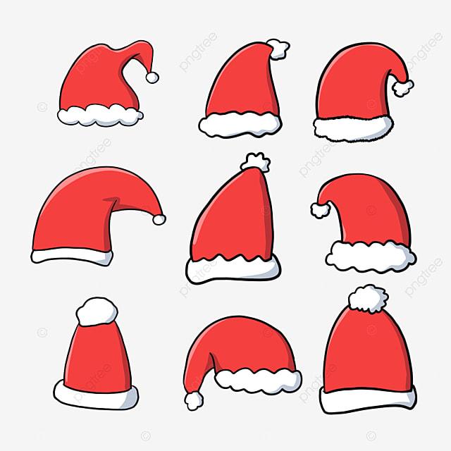 christmas cartoon christmas hat