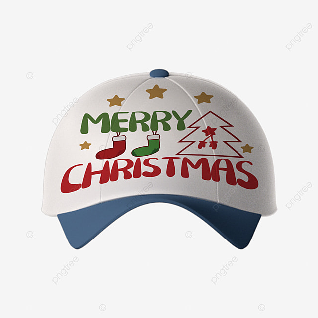 christmas cartoon simple pattern combined with hat