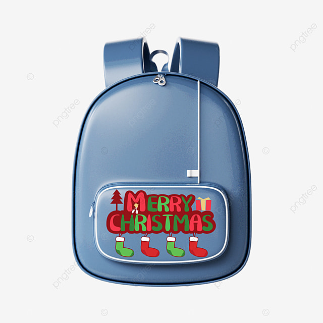 christmas cute pattern combined with backpack