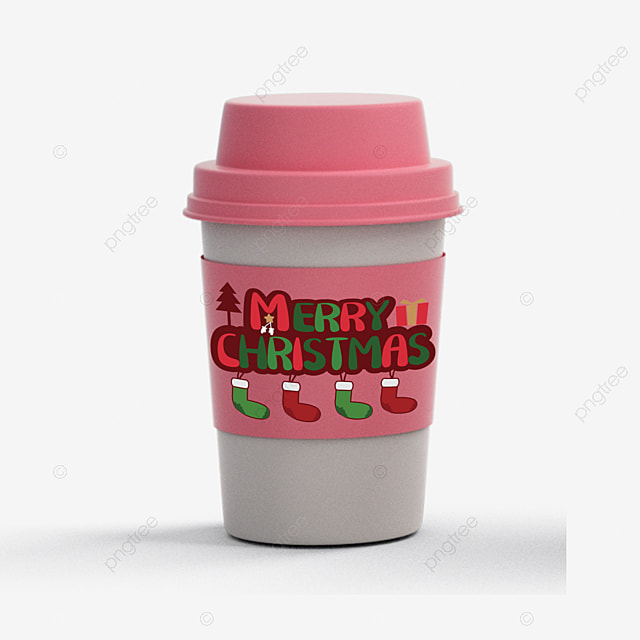 christmas cute pattern with cups