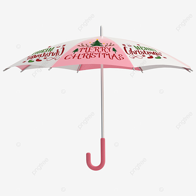 christmas cute pattern with umbrellas