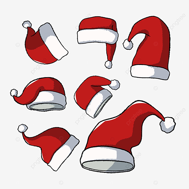 christmas hat hand drawn cartoon christmas hat