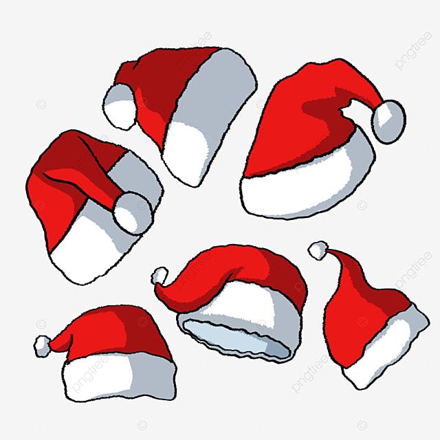 christmas hat hand drawn cartoon red christmas hat