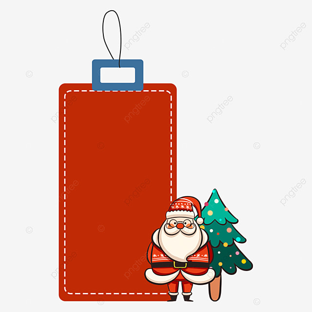 christmas label colored lights tree elderly