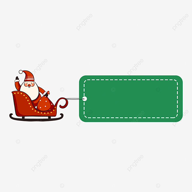 christmas label old man sitting in a sleigh