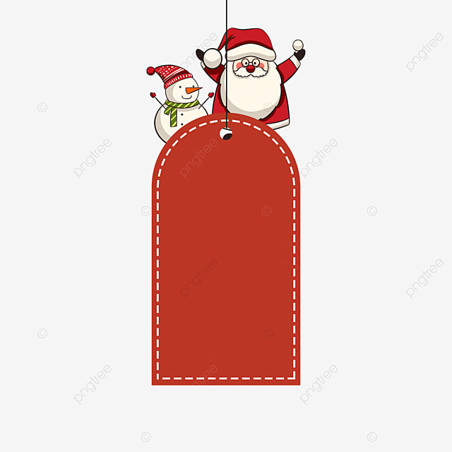 christmas label red old man snowman