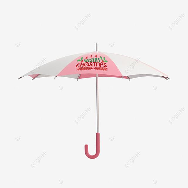 christmas umbrella cute cartoon style