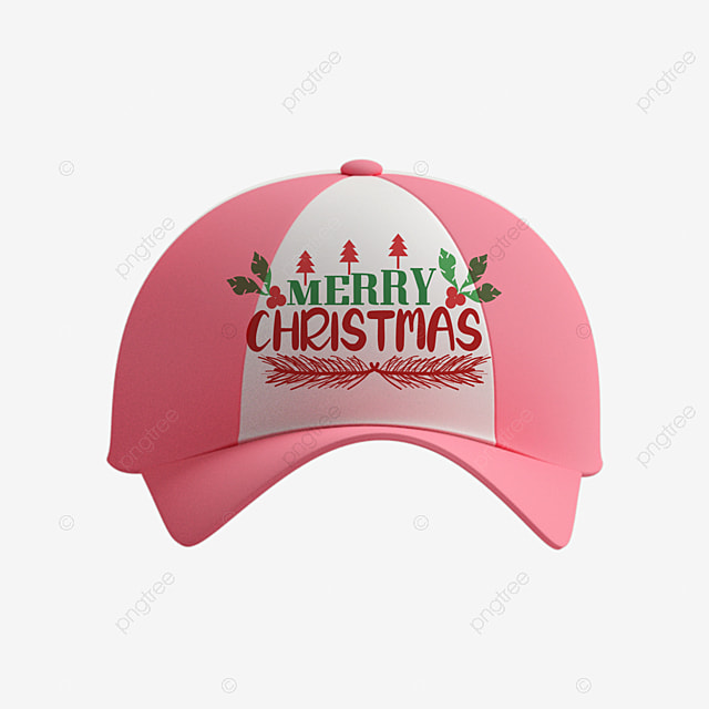 cute christmas pink hat merry christmas