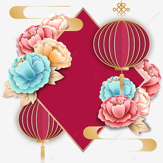 flower decoration creative geometric border