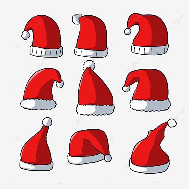 hand drawn cartoon red christmas hat christmas hat