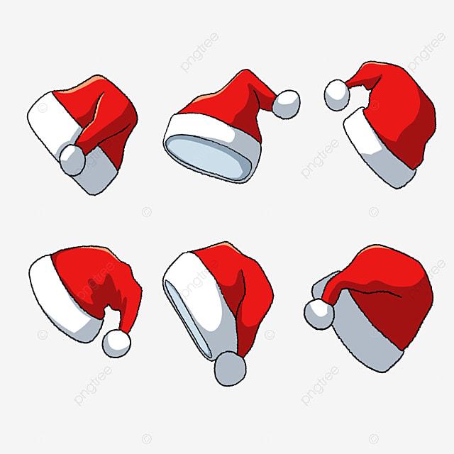 hand drawn cartoon red christmas hat
