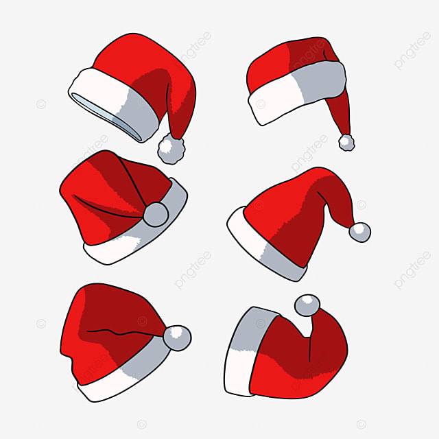 hand drawn christmas hat cartoon christmas hat