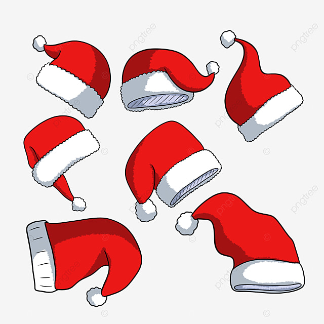 hand drawn holiday hat cartoon christmas hat