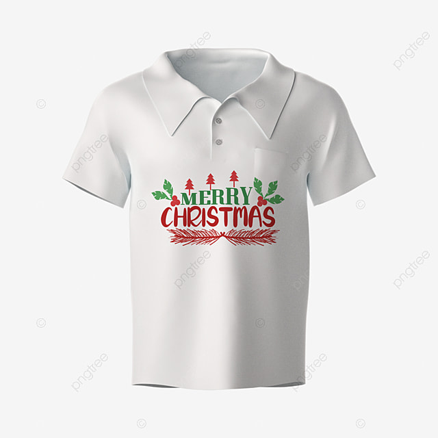 merry christmas hand drawn artistic words with short sleeve simple style