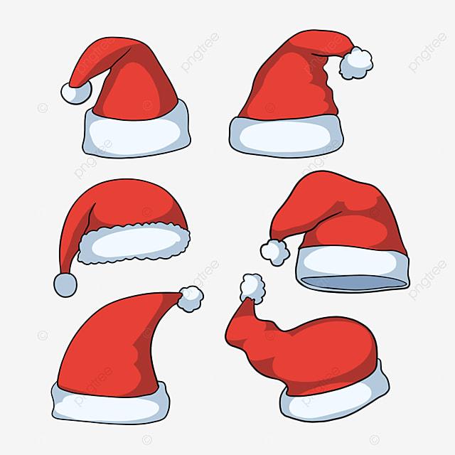 red cartoon hand drawn christmas hat