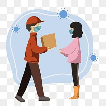 Ручной обращается мультфильм элементы службы доставки на дом, Болезнь, профилактика, здоровье PNG и PSD