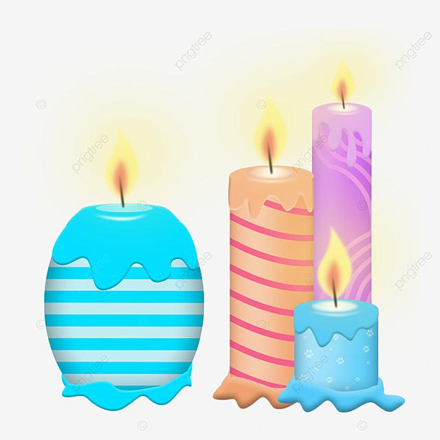 burning candle decoration element