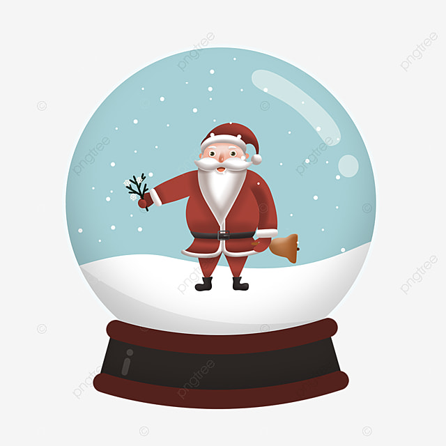 bell tree branch santa claus crystal ball element