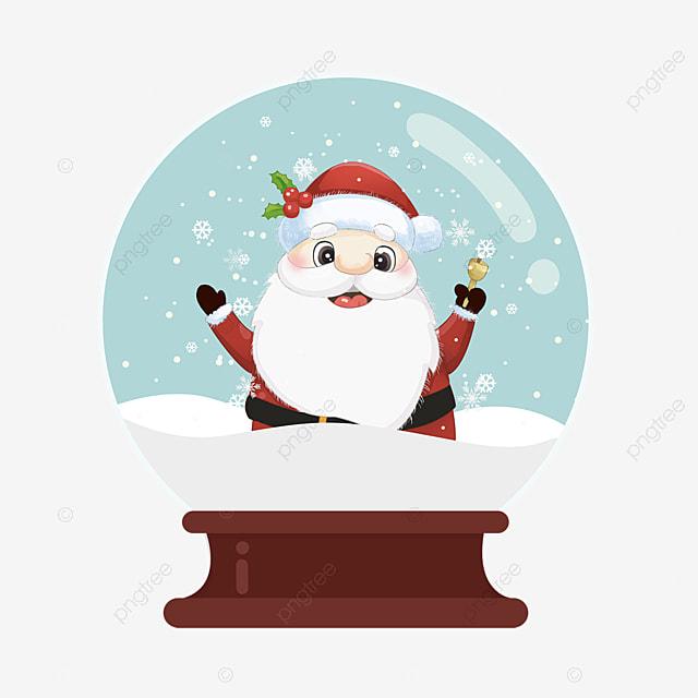 christmas crystal ball cute santa element