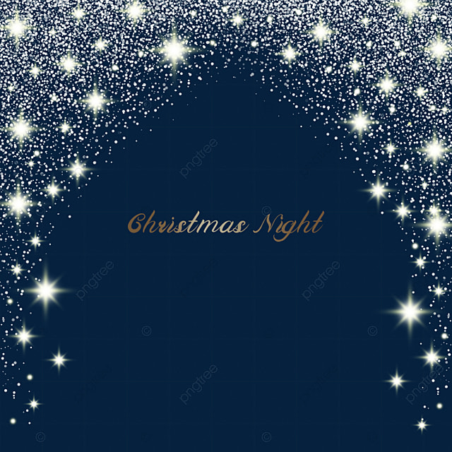 christmas light effect with scattered stars