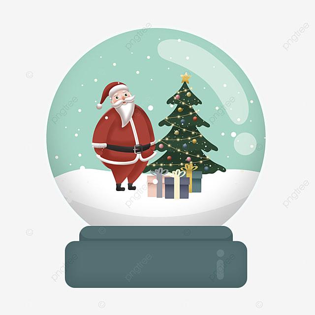 christmas tree gift santa claus crystal ball element