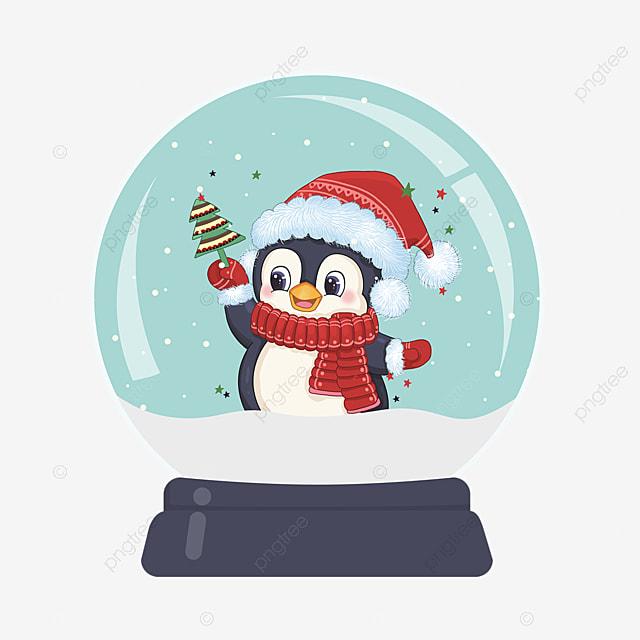 christmas tree penguin christmas crystal ball element