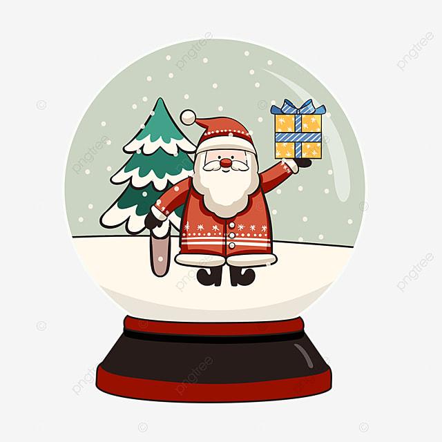 crystal ball gift christmas tree santa element