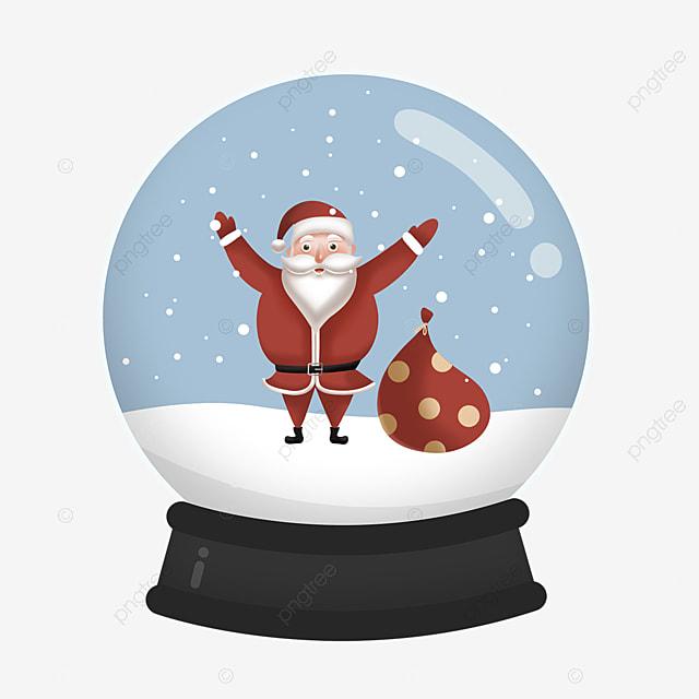 crystal ball snowflake gift santa element
