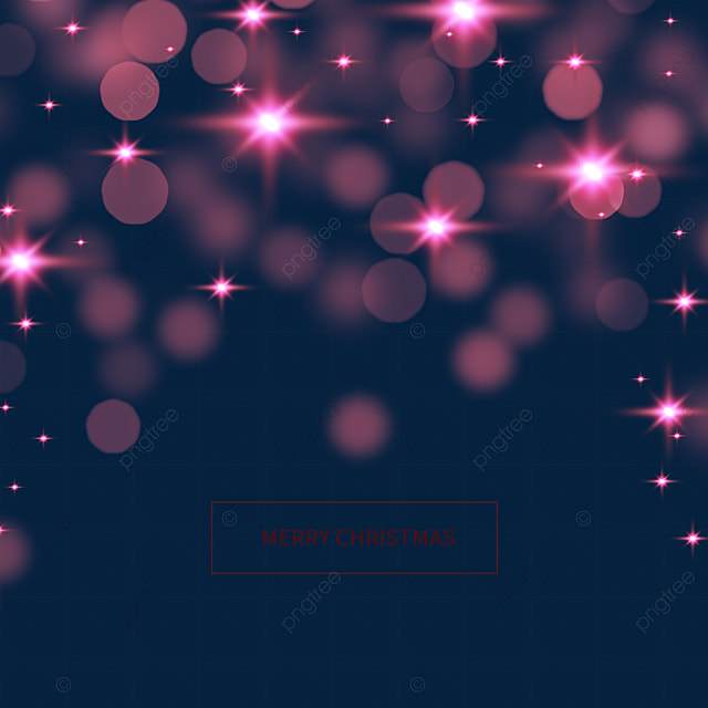 pink christmas star light effect