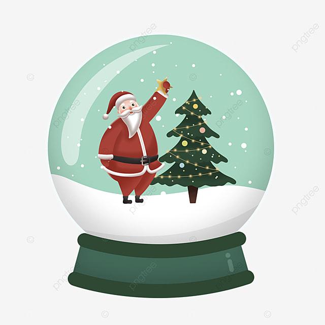 santa claus christmas tree snowflake crystal ball element