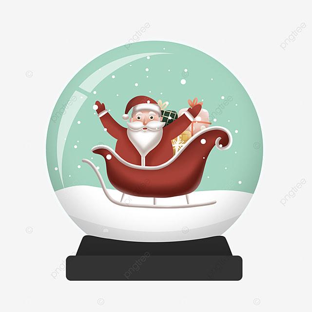 sleigh gift santa claus crystal ball element