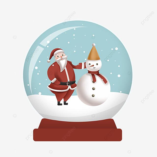 snowman hat santa claus crystal ball element