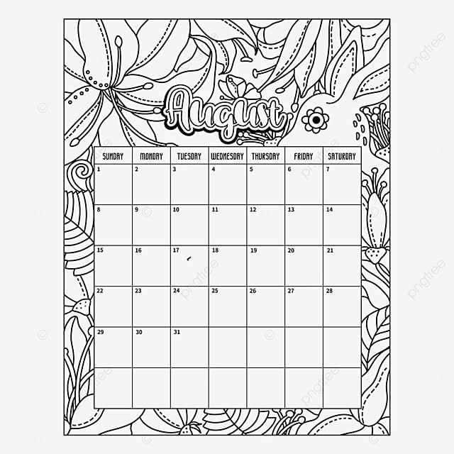 Kalender 2021 Hitam Putih