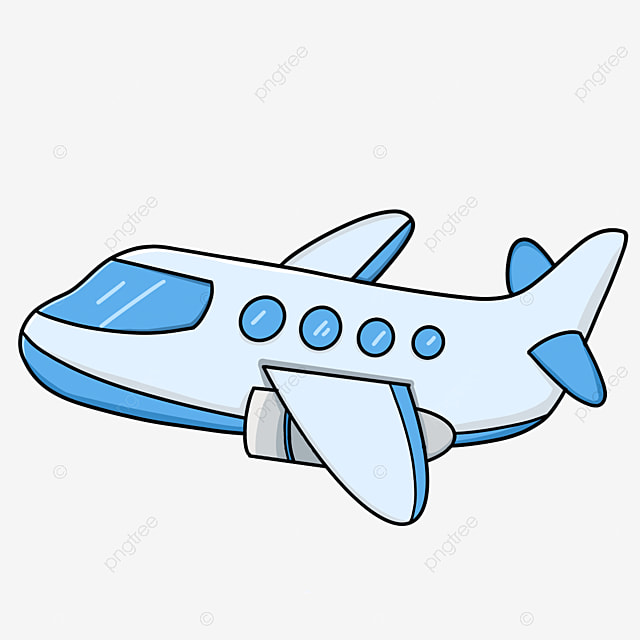 Airplane Clipart Airplane Passenger Plane Blue Airliner Squabby Png Transparent Clipart Image And Psd File For Free Download
