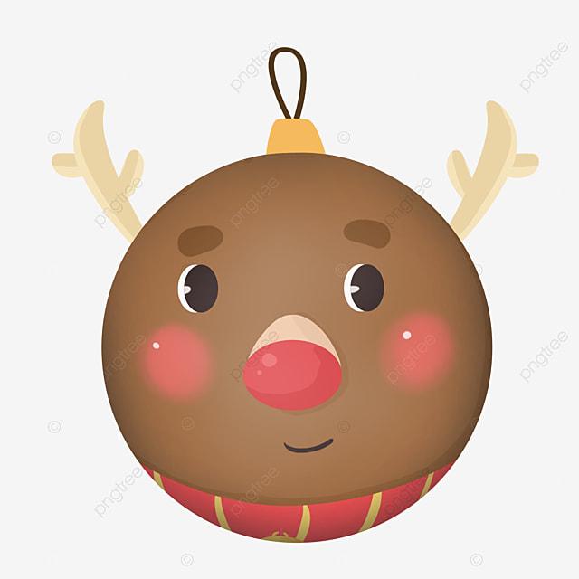 cute animal cartoon christmas ball