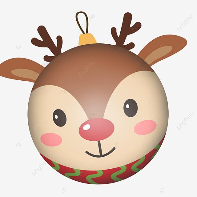 cute animal christmas ball