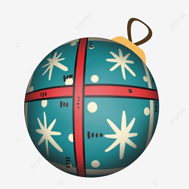 cute blue christmas ball