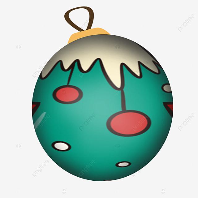 cute green christmas ball