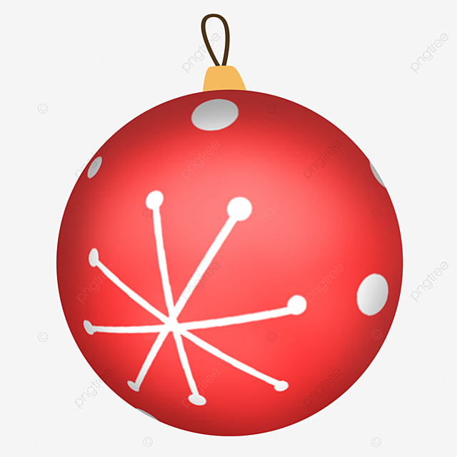 cute red simple christmas ball