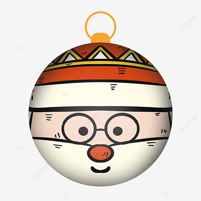 cute santa with christmas balls