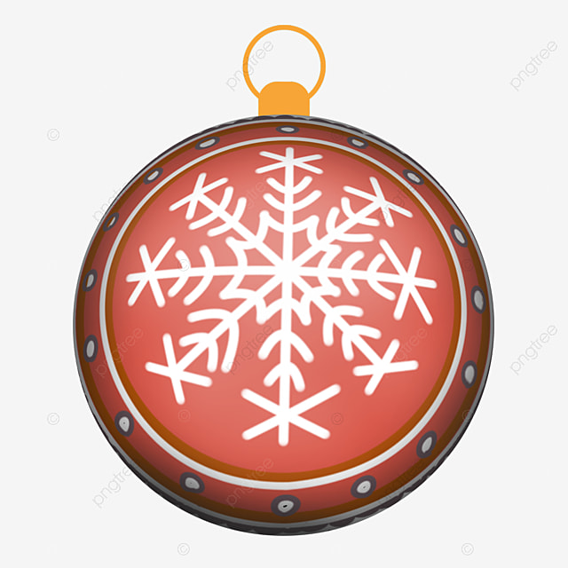cute snowflake pattern christmas ball