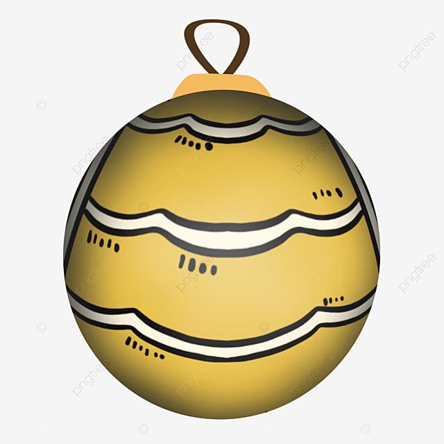 cute yellow striped christmas ball