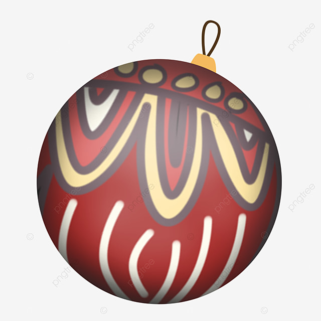 merry christmas balls with cute patterns