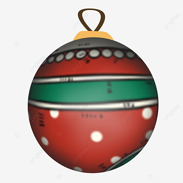 red cute cartoon christmas ball