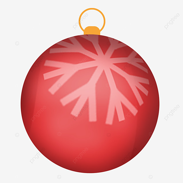 red simple pull ring christmas ball