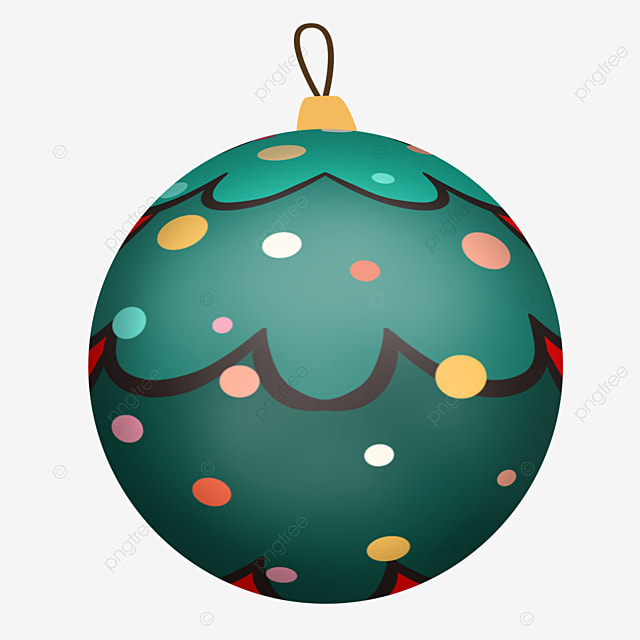 simple cute green christmas ball